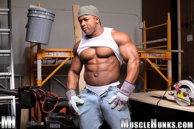 muscle hunks ron hamilton naked black Bodybuilder with ripped body Download Full Stud Gay Porn Movies Here