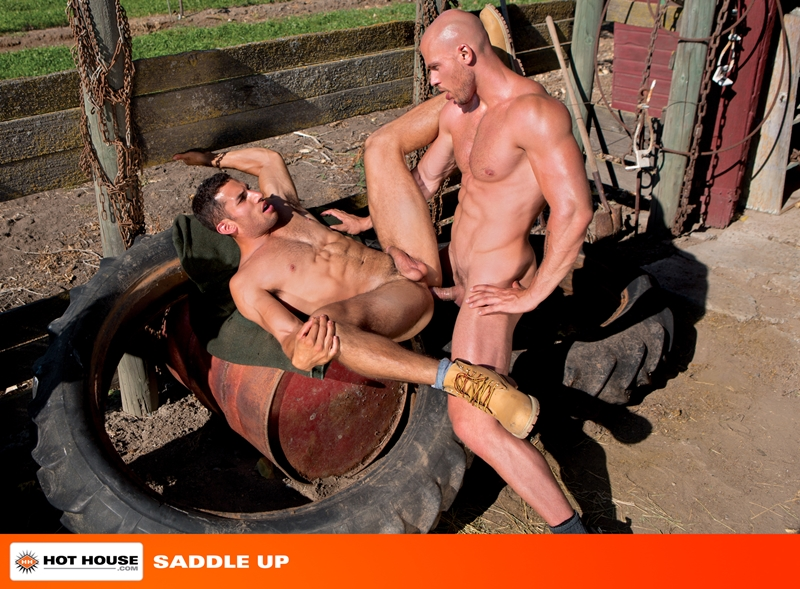 Гей секс на ферме