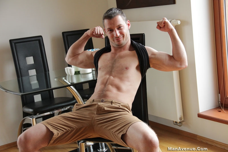 Corrin Sanchez jerks his huge uncut dick