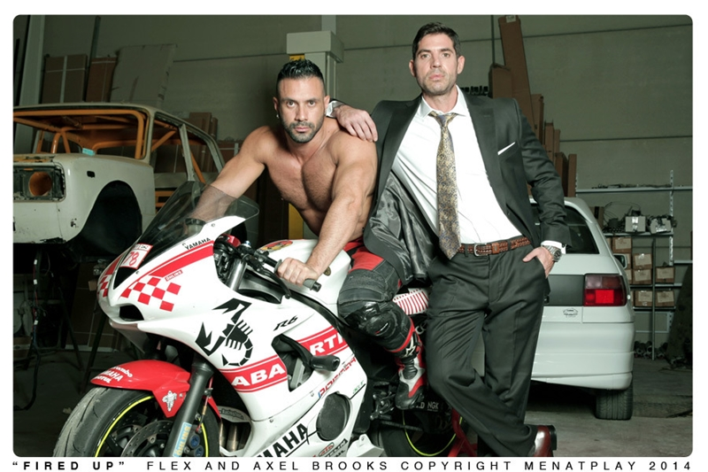men at play  MenatPlay Sexy tattoo Axel Brooks motorbike rider Flex Xtremmo leather Power bottom muscle cock asshole huge cumshot 001 tube video gay porn gallery sexpics photo Axel Brooks fucks Flex Xtremmo