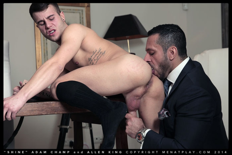 men at play  MenatPlay hairy chest hunk Adam Champ young well hung Allen King houseboy throbbing big dick anal fucking ass rimming 001 tube video gay porn gallery sexpics photo Hairy chested hunk Adam Champ fucks Allen King