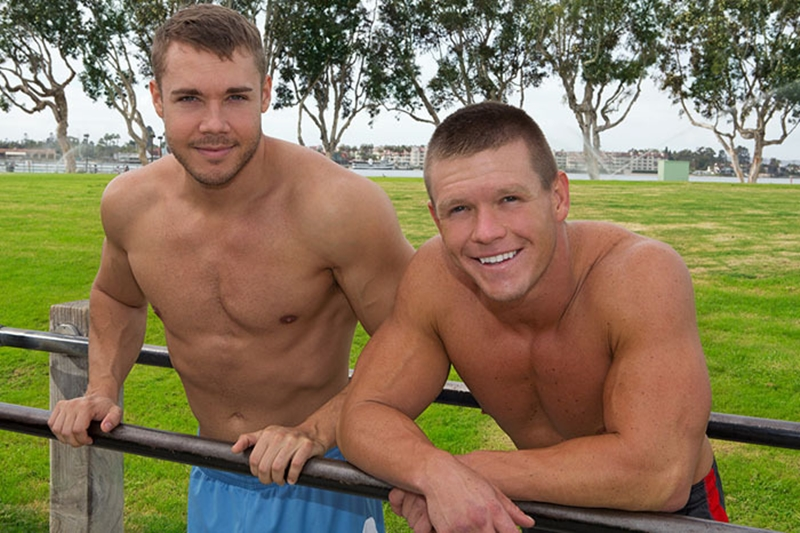 Rusty bareback fucked by hot muscle boy Brody