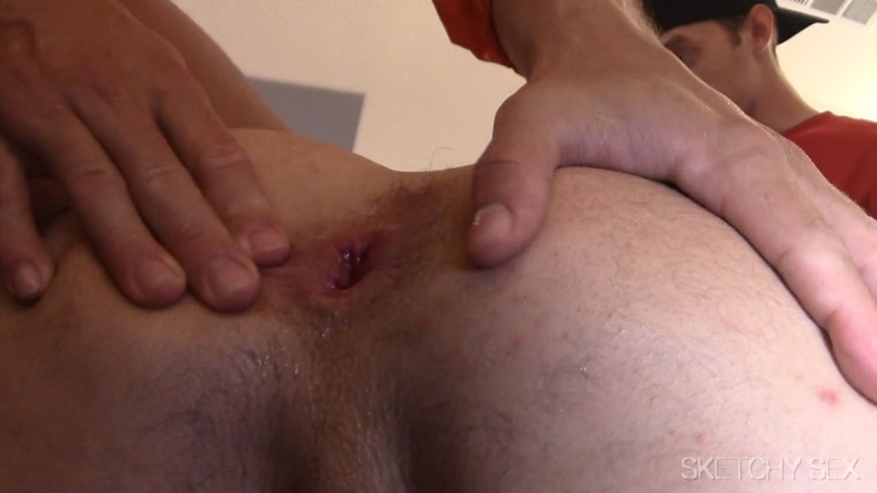 Filthy gay guy gets ass fucked jizzed