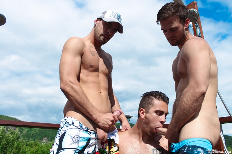 Gabriel Clark, Pascal Aubry and Damien Hope