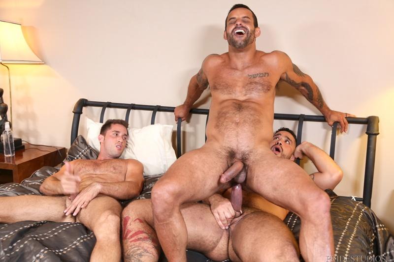 Bubble butt gay male big dick threesome Hardcore Ass Fucking Threesome Trey Turner Armando De Armas And David Benjamin Free Big Dicks Gay Porn