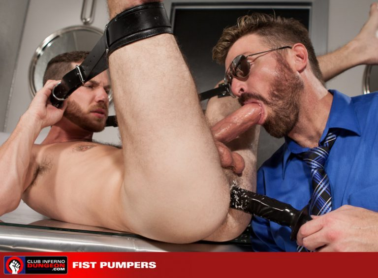 Cameron Cole dildo fucks Parker Kane until he turns around and blows his hot load onto Cameron's face
