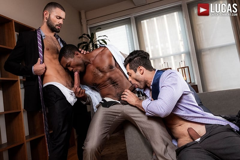 Men for Men Blog Sean-Xavier-Lucas-Leon-Jeffrey-Lloyd-Interracial-anal-fuck-suck-fest-big-cock-LucasEntertainment-002-gay-porn-pictures-gallery Interracial anal fuck and suck fest Sean Xavier and Lucas Leon persuade Jeffrey Lloyd to get his big beautiful cock out Lucas Entertainment