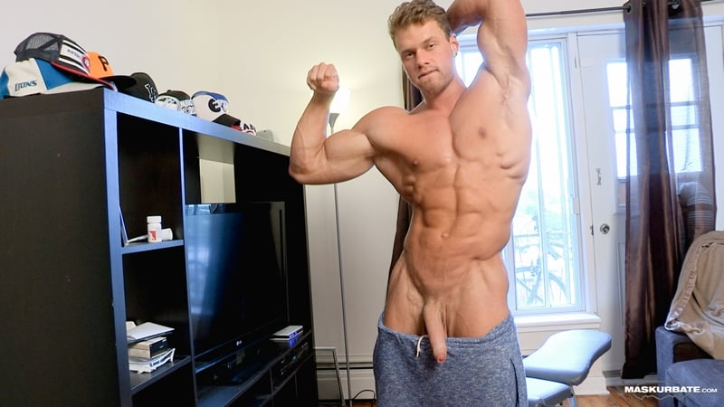 Big-muscle-man-Maskurbate-Brad-strips-naked-jerking-huge-uncut-dick-cum-006-Gay-Porn-Pics