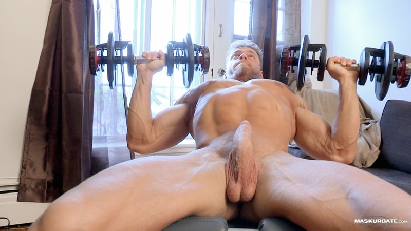Big-muscle-man-Maskurbate-Brad-strips-naked-jerking-huge-uncut-dick-cum-008-Gay-Porn-Pics