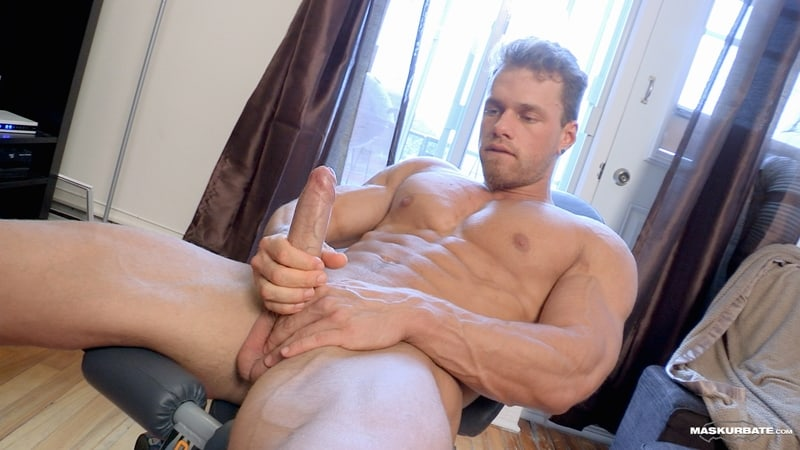 Big-muscle-man-Maskurbate-Brad-strips-naked-jerking-huge-uncut-dick-cum-011-Gay-Porn-Pics