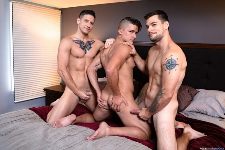 Hardcore cocksucking ass fucking threesome with hottie young dudes Princeton Price, Jake Porter and Dalton Riley