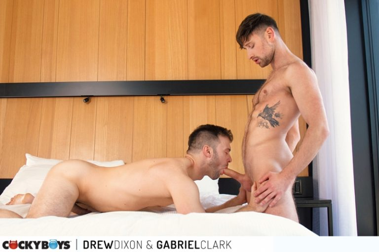Drew Dixon's hot hole fucked hard by Gabriel Clark's huge erect dick