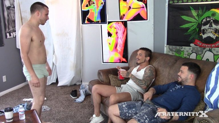 Fratboy fucked at Fraternity X new dude was begging for bro dick